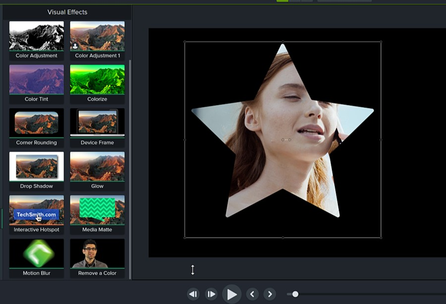 The Media Matte Visual Effect in Camtasia 2021 adds flexibility to masks